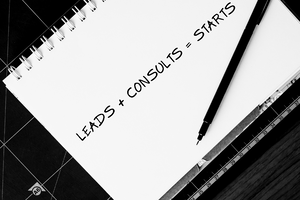 Leads+Consults=Starts